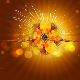 Happy raksha bandhan yellow background