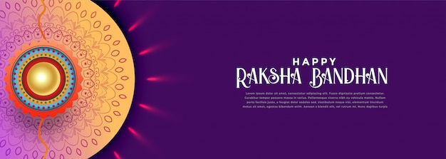 Happy rakshabandhan celebration banner design
