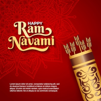 Happy ram navami background