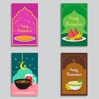 Happy ramadan banner design vector