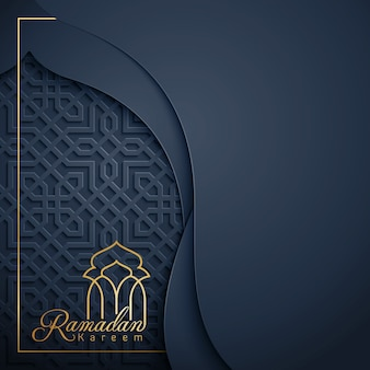Happy ramadan kareem greeting background