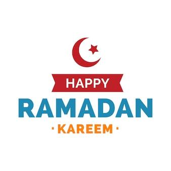 Happy ramadan kareem lettering with symbol