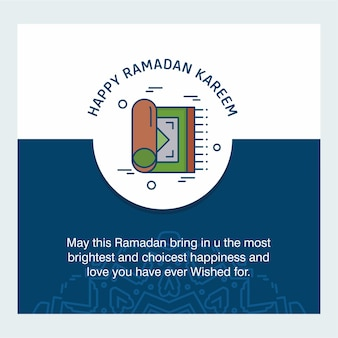 Happy ramdan typogrpahy with elegent design vector