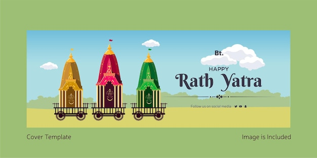 Happy rath yatra cover page template