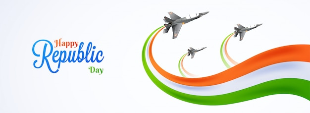 Happy republic day celebration concept