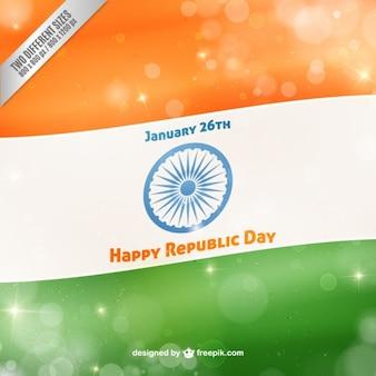 Felice repubblica bandiera giorno con effetto bokeh