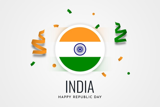 Happy republic day india illustration template design