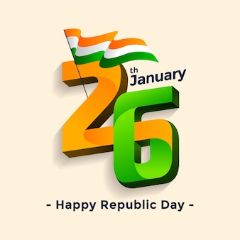 Happy republic day indian 26th january
