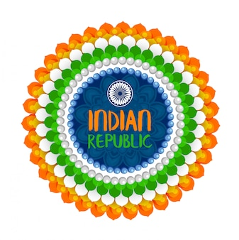 Happy republic day indian festival background