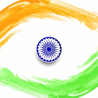 Happy republic day indian flag design vector