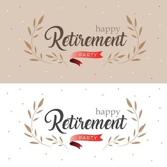 Happy retirement party elegant logo