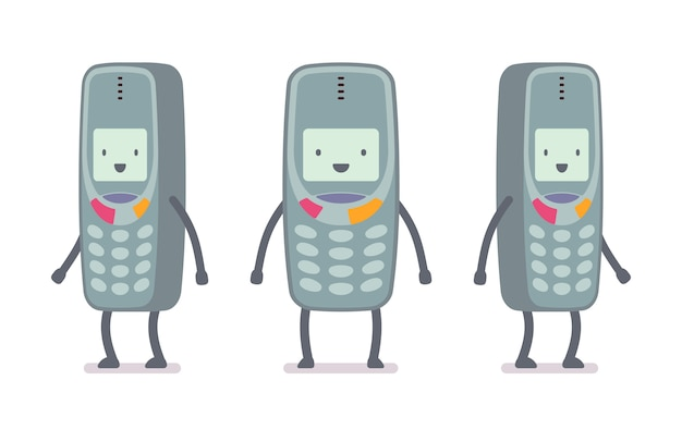 Happy retro cell phone