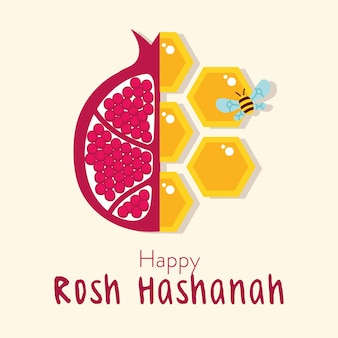 Happy rosh hashanah celebration with