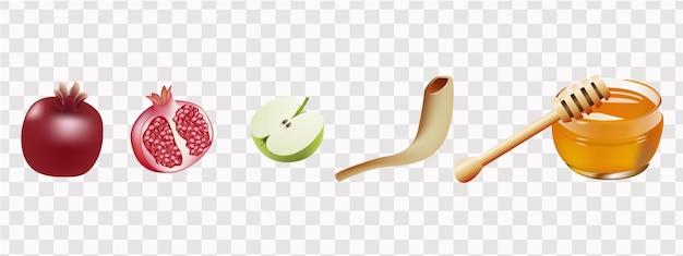 Happy rosh hashanah jewish text shana tova jewish new year holiday torah honey and apple