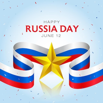 Happy russia independence day celebration