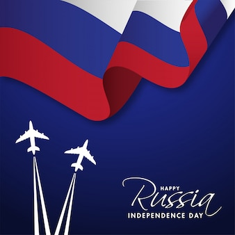 Happy russia independence day concept.