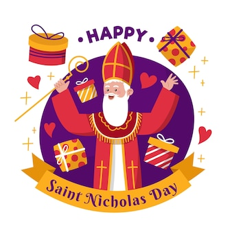 Happy saint nicholas day hand drawn