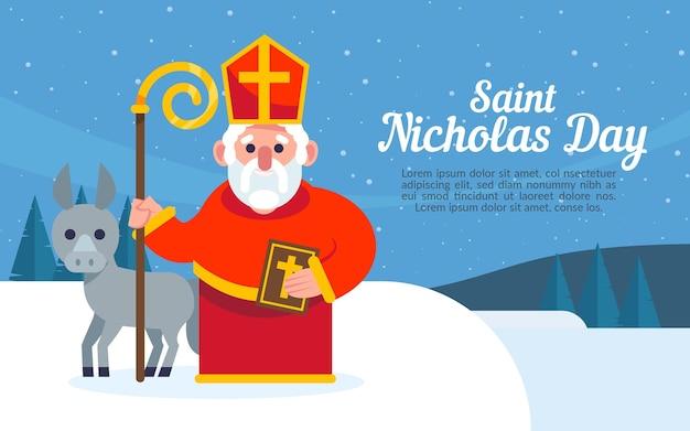 Happy saint nicholas day and reindeer