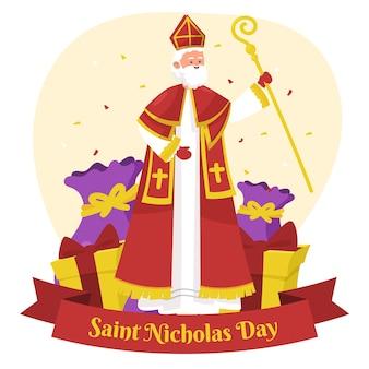 Happy saint nicholas day with scepter
