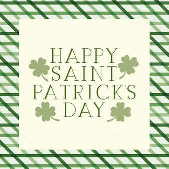 Happy saint patrick`s day label isolated icon
