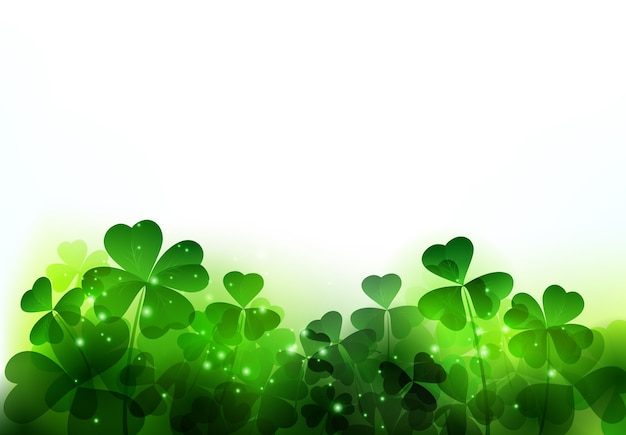 Happy saint patricks day background with clover