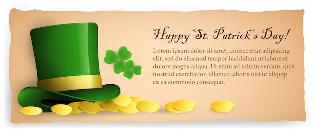Happy saint patricks day banner design