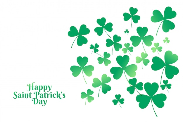 Happy saint patricks day clover leaves background