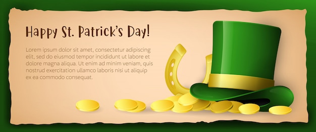 Happy saint patricks day creative greeting card