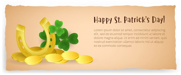 Happy saint patricks day creative poster design