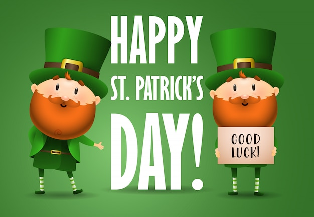 Happy saint patricks day  invitation design