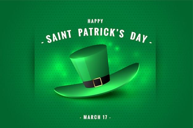Happy saint patricks day leprechaun hat background