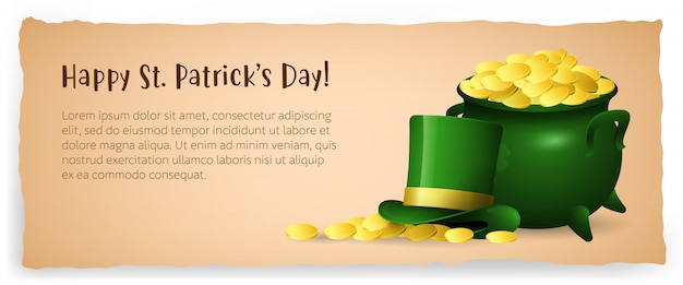 Happy saint patricks day special poster design