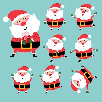 Happy santa character