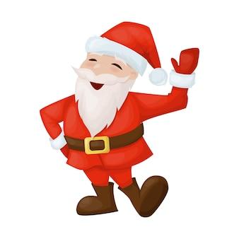 행복 한 산타 클로스 웃는 메리 크리스마스 휴가 만화 캐릭터