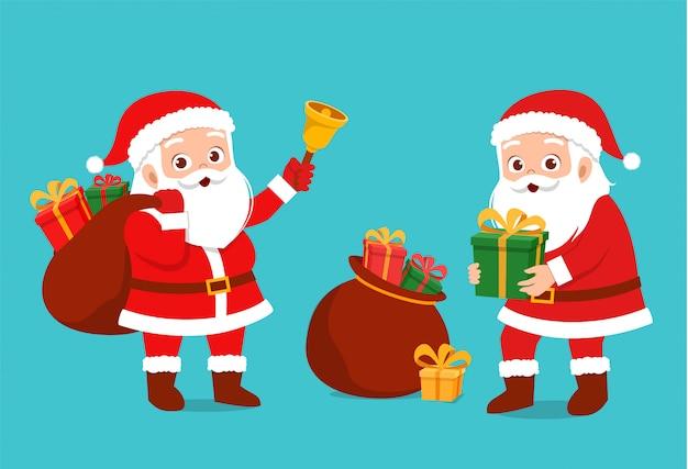 ハッピーサンタが子供たちにプレゼントを贈る