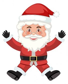 Happy santa white background