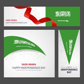 Happy saudi arabia independence day banner