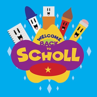 Happy school cartoon