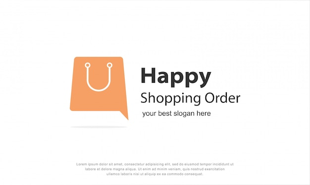 Happy shopping logo design