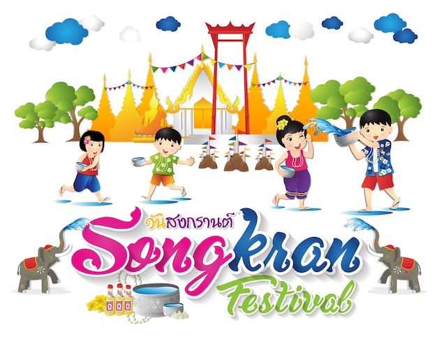 Happy songkran festival