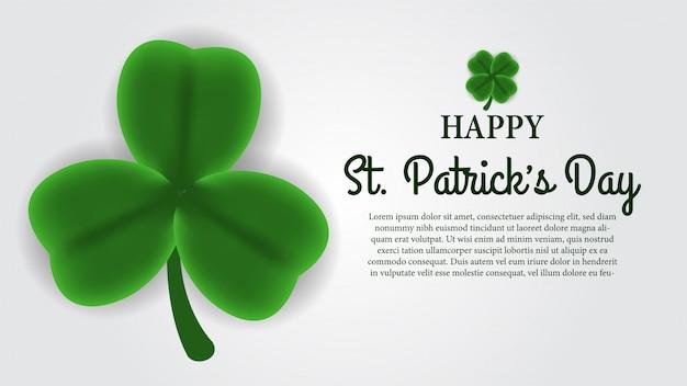 Happy st. patrick day banner