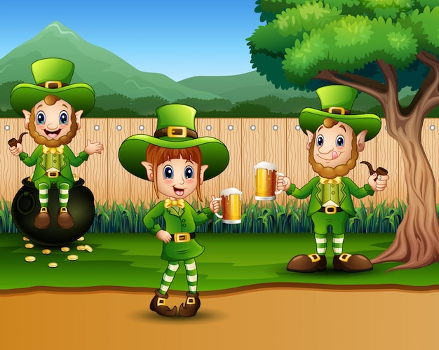 Happy st patrick day celebration with a beer