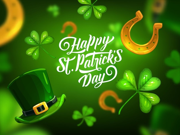 Happy st. patrick day greeting card