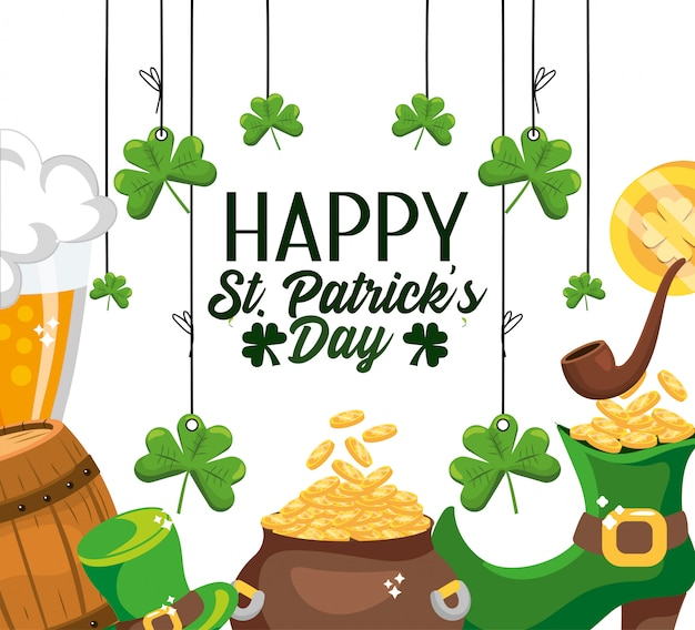 Happy st patrick event celebration design