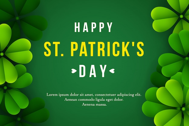 Happy st. patrick's day background with clover leaves