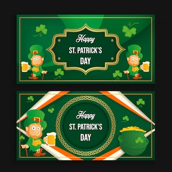 Happy st patrick's day banner vector