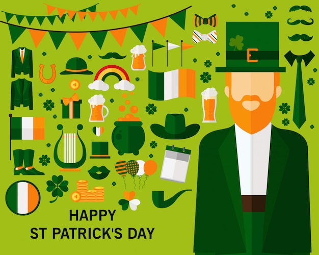 Happy st patrick's day concept background