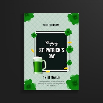 Happy st patrick's day flyer template