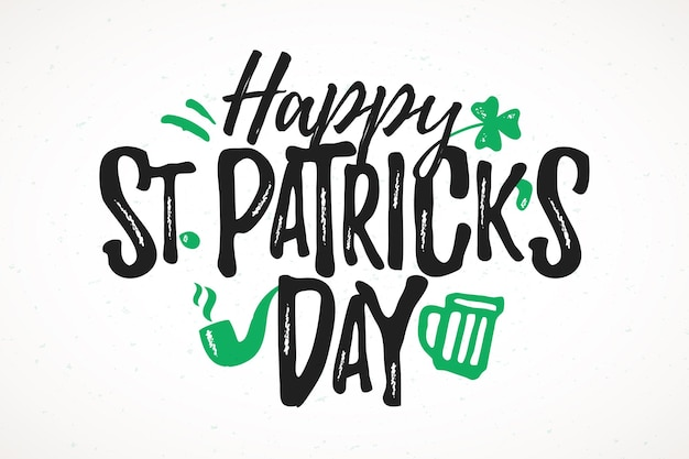 Happy st. patrick's day funny lettering