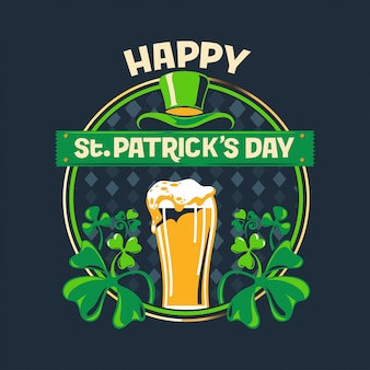 Happy st. patrick's day greeting vector illustration premium